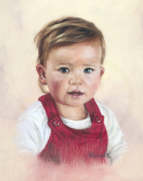 toddler portrait by Mary Herbert